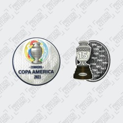 Official Copa America 2021 + Trophy 15 Badges (Uruguay)