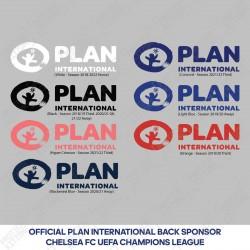 PLAN International Back Sponsor (Official Chelsea FC UEFA Champions League Back Sponsor)
