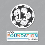 Official Sporting iD UEFA UCL Starball BOH13 + UEFA Foundation Badge Set