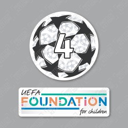 Official Sporting iD UEFA UCL Starball BOH4 + UEFA Foundation Badge Set