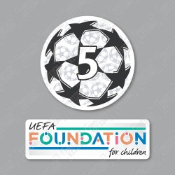 Official Sporting iD UEFA UCL Starball BOH5 + UEFA Foundation Badge Set