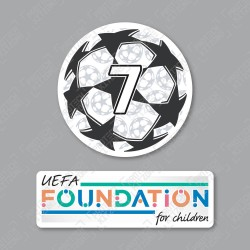Official Sporting iD UEFA UCL Starball BOH7 + UEFA Foundation Badge Set