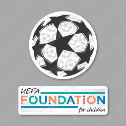 Official Sporting iD UEFA UCL Starball + UEFA Foundation Badge Set