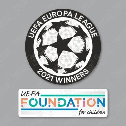 Official Sporting iD UEFA UEL Titleholder 2021 + UEFA Foundation Badge Set