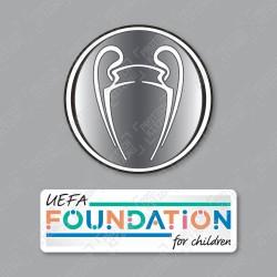 Official Sporting iD UEFA UCL Titleholder + UEFA Foundation Badge Set
