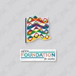 Official UEFA Nations League + UEFA Foundation for Children Sleeve Badges (Season 2021)