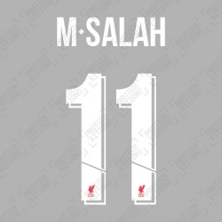 M.Salah 11 (Official Liverpool FC White Club Name and Numbering)