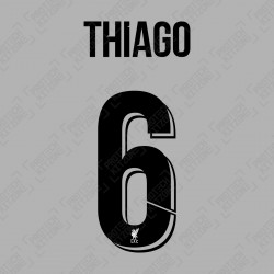 Thiago 6 (Official Liverpool FC 2020/21/22 Away Club Name and Numbering)