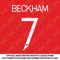 [Coming Soon] Beckham 7 (Official Manchester United FC 2021/22 Home Name and Numbering - Sporting iD Ver.)
