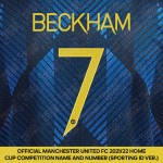 Beckham 7 (Official Manchester United FC 2021/22 Third Name and Numbering - Sporting iD Ver.)