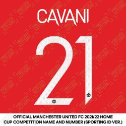 [Coming Soon] Cavani 21 (Official Manchester United FC 2021/22 Home Name and Numbering - Sporting iD Ver.)