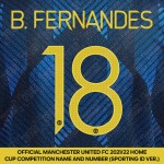 B. Fernandes 18 (Official Manchester United FC 2021/22 Third Name and Numbering - Sporting iD Ver.)