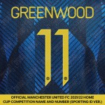 Greenwood 11 (Official Manchester United FC 2021/22 Third Name and Numbering - Sporting iD Ver.)