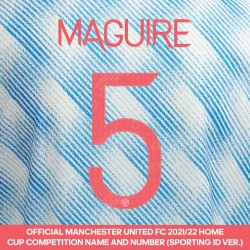 Maguire 5 (Official Manchester United FC 2021/22 Away Name and Numbering - Sporting iD Ver.)