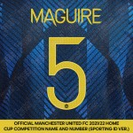 Maguire 5 (Official Manchester United FC 2021/22 Third Name and Numbering - Sporting iD Ver.)