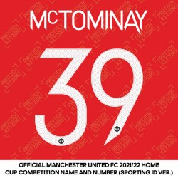 [Coming Soon] McTominay 39 (Official Manchester United FC 2021/22 Home Name and Numbering - Sporting iD Ver.)