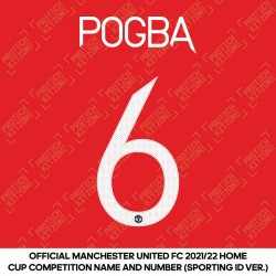 Pogba 6 (Official Manchester United FC 2021/22 Home Name and Numbering - Sporting iD Ver.)