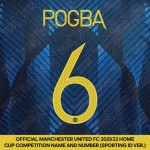 Pogba 6 (Official Manchester United FC 2021/22 Third Name and Numbering - Sporting iD Ver.)
