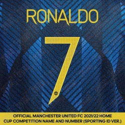 [Pre-Order] Ronaldo 7 (Official Manchester United FC 2021/22 Third Name and Numbering - Sporting iD Ver.)
