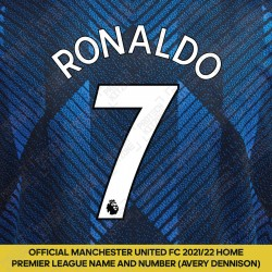 Ronaldo 7 (Official Manchester United 2021/22 Third Premier League Name and Number)