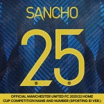Sancho 25 (Official Manchester United FC 2021/22 Third Name and Numbering - Sporting iD Ver.)