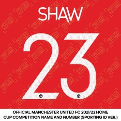 [Coming Soon] Shaw 23 (Official Manchester United FC 2021/22 Home Name and Numbering - Sporting iD Ver.)