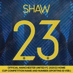 Shaw 23 (Official Manchester United FC 2021/22 Third Name and Numbering - Sporting iD Ver.)