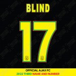 Blind 17 (Official Ajax FC 2021/22 Third Shirt Name and Numbering)