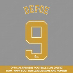 Defoe 9 (Official Rangers FC 2021/22 Home / Away Name and Numbering