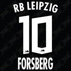 Forsberg 10 (Official RB Leipzig 2021/22 Away / Third Name and Numbering) - Bundesliga Ver.