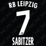 Sabitzer 7 (Official RB Leipzig 2021/22 Away / Third Name and Numbering) - Bundesliga Ver.