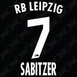 Sabitzer 7 (Official RB Leipzig 2021/22 Away Name and Numbering) - Bundesliga Ver.