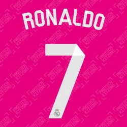 Ronaldo 7 (Official Real Madrid 2014/15 Away / Third Name and Numbering)