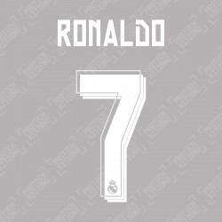 Ronaldo 7 (Official Real Madrid 2015/16 Away Name and Numbering)