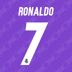 Ronaldo 7 (Official Real Madrid 2016/17 Away Name and Numbering)