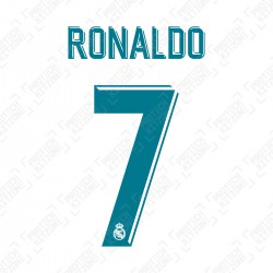 Ronaldo 7 (Official Real Madrid 2017/18 Home Name and Numbering)