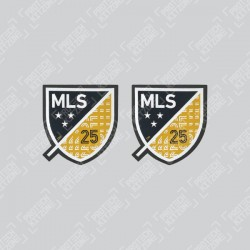 Official 25th Anniversary MLS Sleeve Badges (For LA Galaxy 2020 Home Shirt)