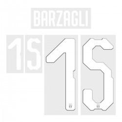 Barzagli 15 (Official Italy World Cup 2018 Home Name and Numbering)