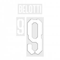 Belotti 9 (Official Italy World Cup 2018 Home Name and Numbering)