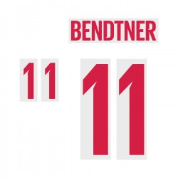 Bendtner 11 (Official Denmark World Cup 2018 Home Away and Numbering)