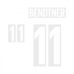 Bendtner 11 (Official Denmark World Cup 2018 Home Name and Numbering)