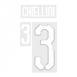 Chiellini 3 (Official Italy World Cup 2018 Home Name and Numbering)