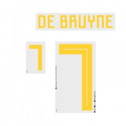 De Bruyne 7 (Official Belgium World Cup 2018 Home Name and Numbering)