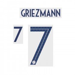 Griezmann 7 (Official France World Cup 2018 Away Name and Numbering)