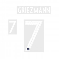 Griezmann 7 (Official France World Cup 2018 Home Name and Numbering)