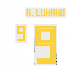 R. Lukaku 9 (Official Belgium World Cup 2018 Home Name and Numbering)