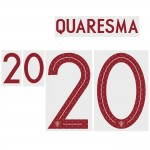 Quaresma 20 (Official Portugal World Cup 2018 Away Name and Numbering)