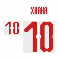 Xhaka 10 (Official Switzerland World Cup 2018 Away Name and Numbering)